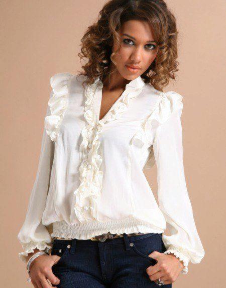 Женские Блузки С Жабо