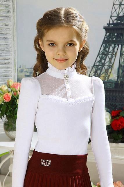 стильные школьные блузки