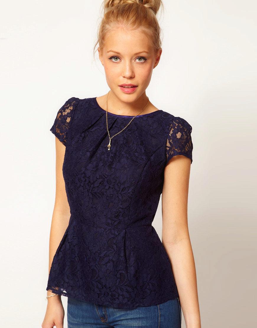 Купить Кружевная Блузка С Баской