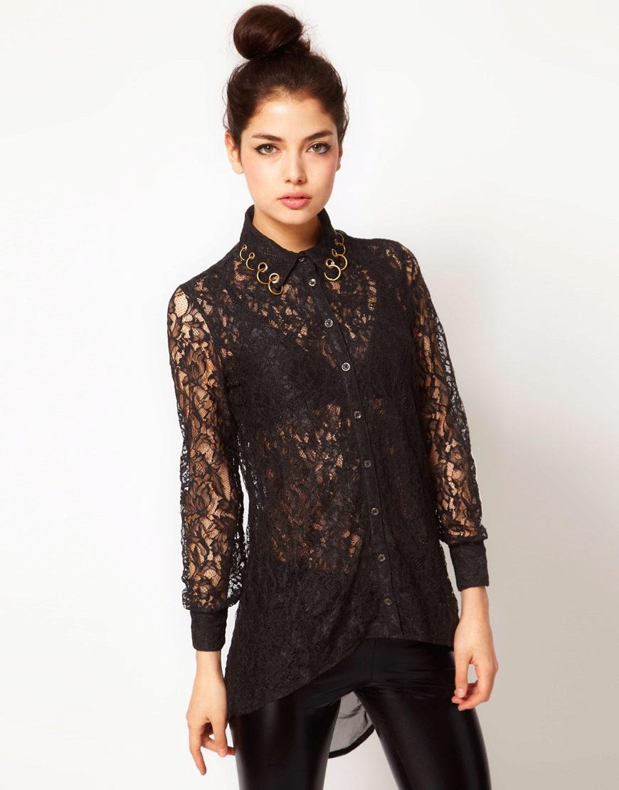 fdad697a593 Блузка из черного гипюра всегда привлекает внимание и приковывает  восхищенные взгляды окружающих.