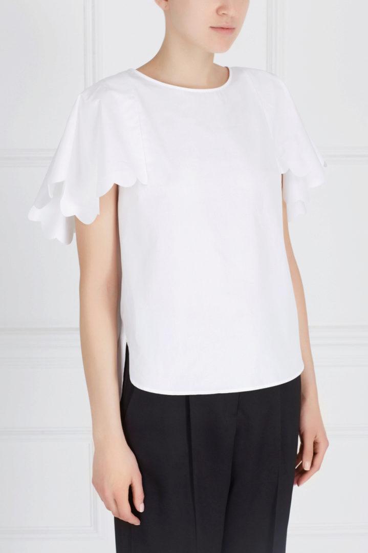 a89e891c94a Для повседневного образа к хлопковой блузке можно подобрать прямые или  расклешенные легкие брюки изо льна