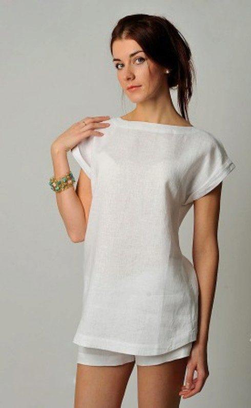 2b551502a5bff7a Блузки из льна (57 фото): с чем носить льняные блузки