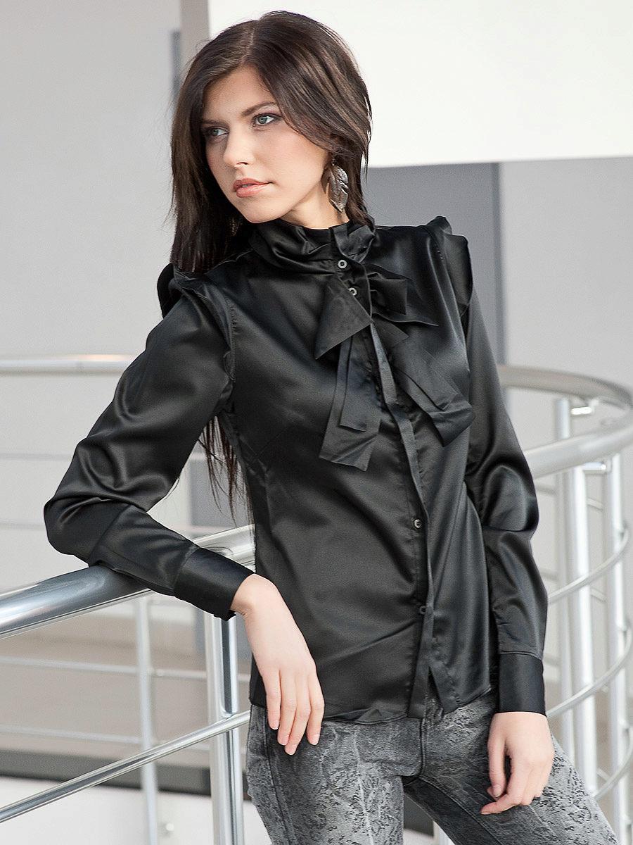 Купить Блузку Шелковую Черную