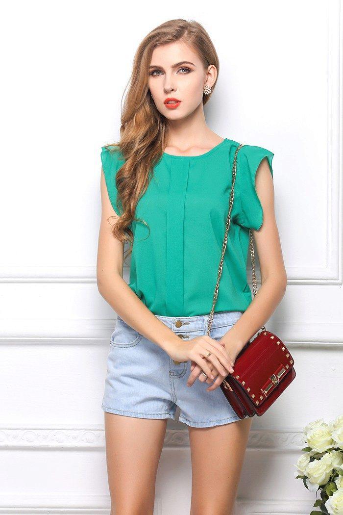 модa лето 2011 блузки