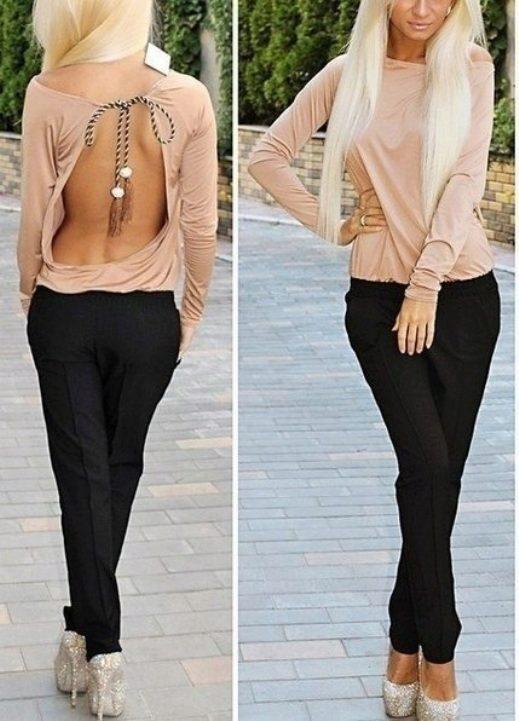06f0b8d829f Блузка с открытой спиной (29 фото)  с чем носить блузы с открытой спиной