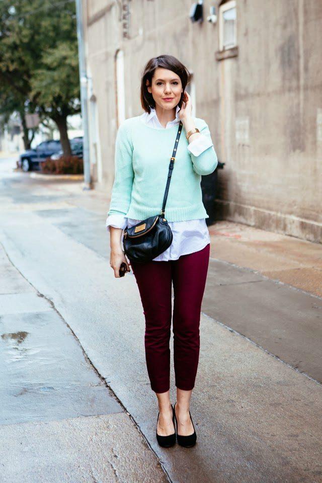 5d734d699f3 ... и узкие обтягивающие бордовые джинсы. Стоит отметить