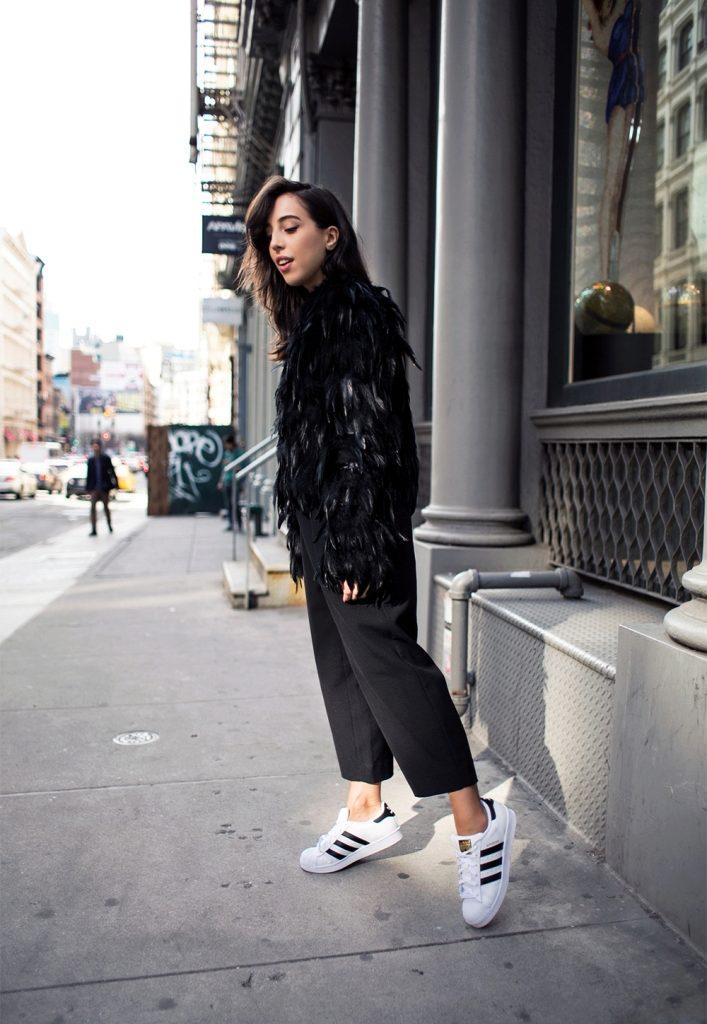 брюки с кедами женские фото