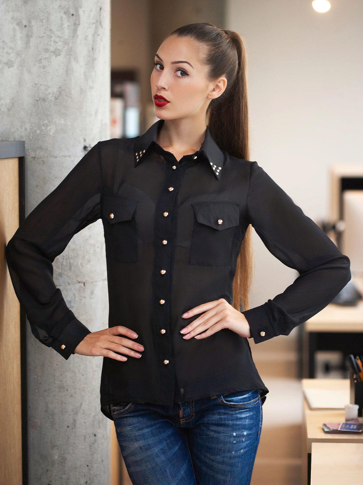 Купить черную блузку