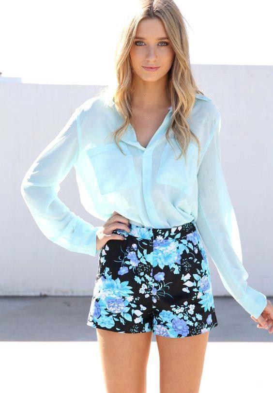 6d055580909 Голубая блузка (52 фото)  с чем носить женские блузы голубого цвета
