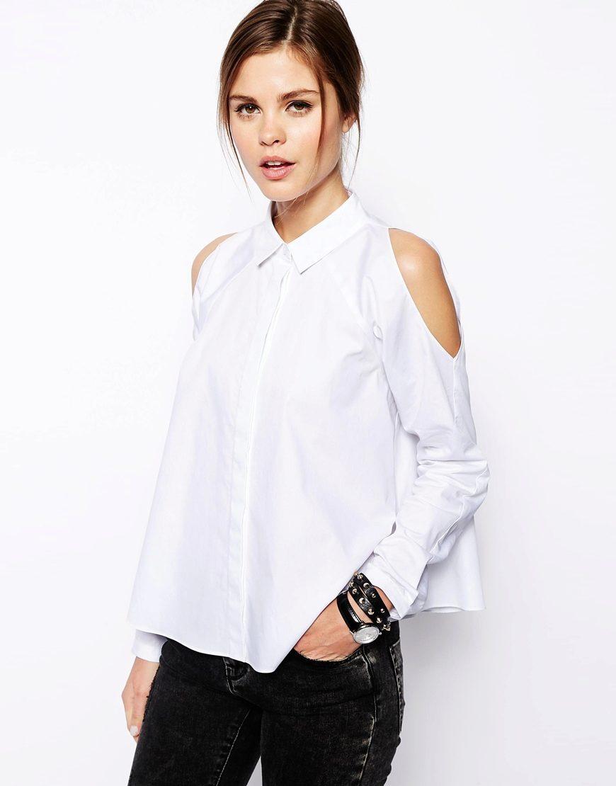 Как сшить блузку на одном плече