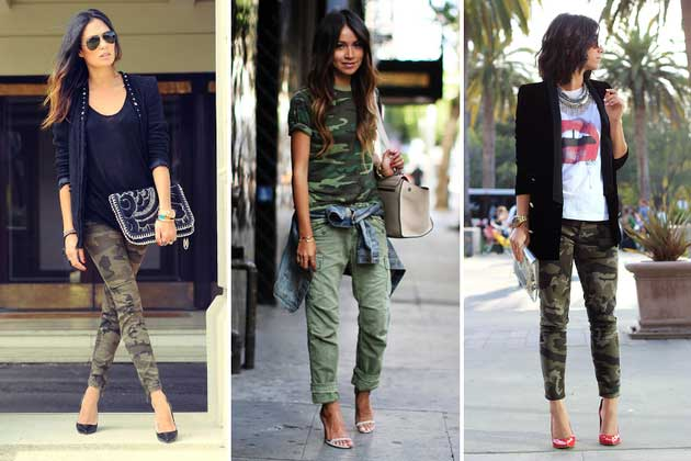 Женские штаны защитного цвета