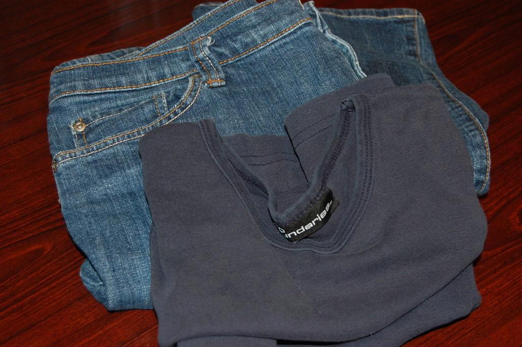 Шьём джинсы для беременных 17