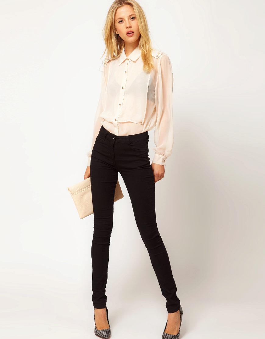 Прямая блузка с чем носить