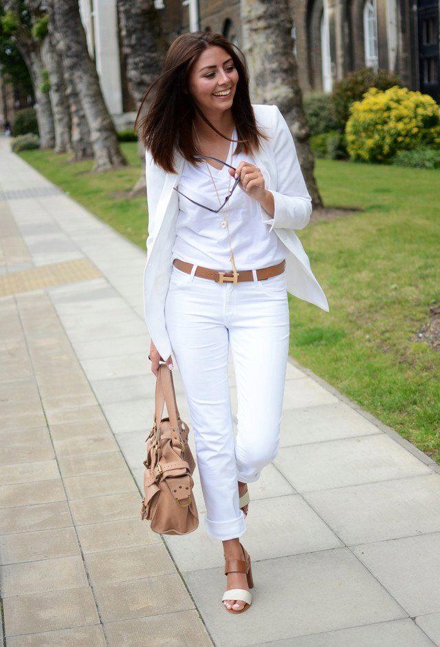 Фото девушек в белых брюках — 8
