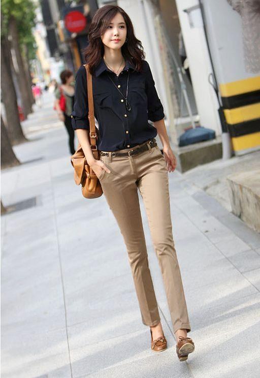 aec4c7d5e4c4 С чем носить бежевые брюки? 56 фото: женские стильные образы, с чем ...