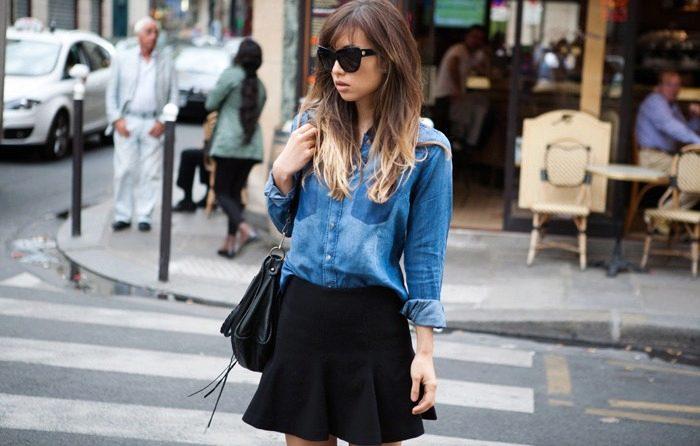 С чем носить джинсовую рубашку женскую (78 фото) 2019 года: с юбкой, с шортами, как носить