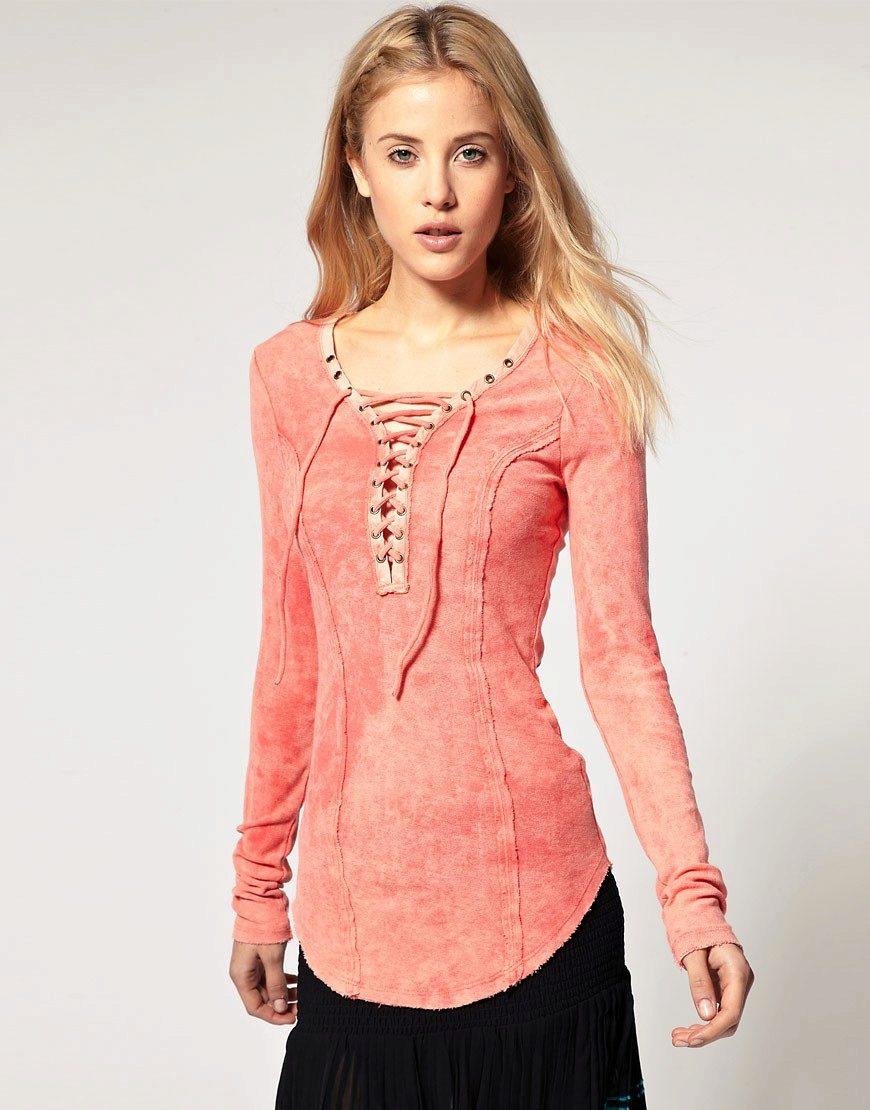 Модели трикотажных блузок