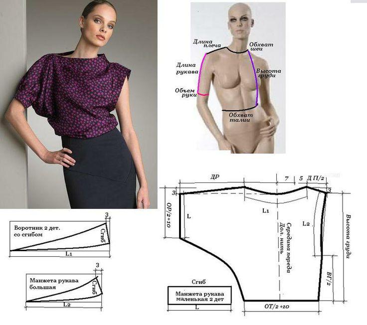 Летняя блузка для полных женщин своими руками