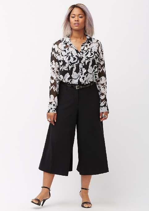 Модель юбка брюки для полных женщин