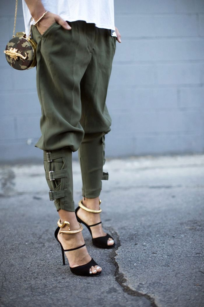Military and army chic street