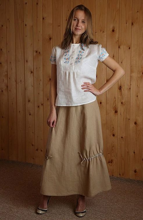 Блузки из льна