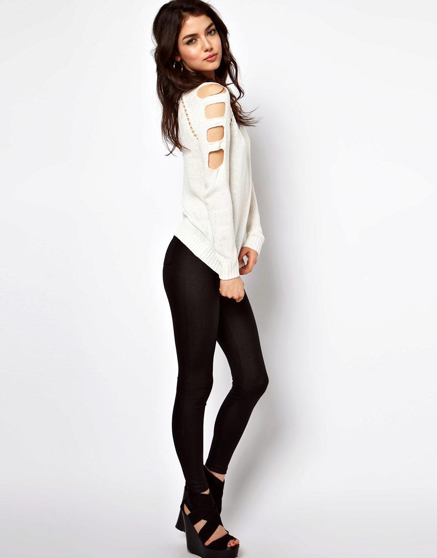 Пуловер С Открытым Плечом Доставка