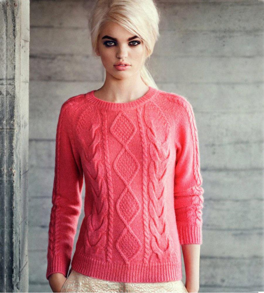 Вязание тёплых свитеров