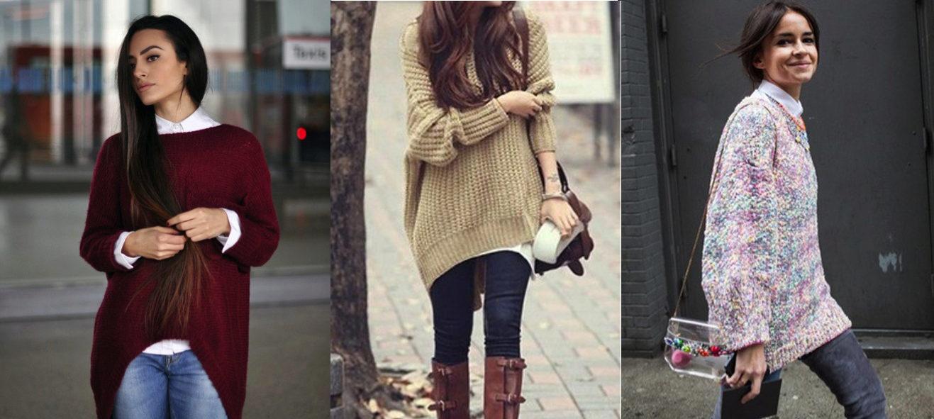 Модные свитера для девушек 2017