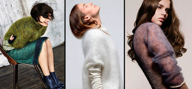 Мохер модное вязание спицами 238