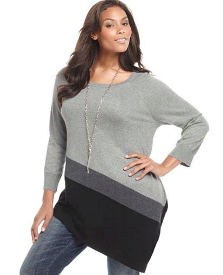 Вязаный Пуловер Для Полных С Доставкой