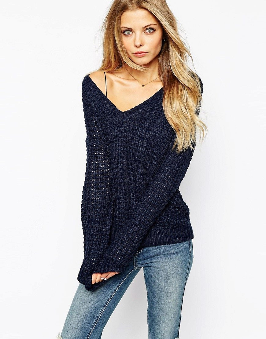 свитер с V образным вырезом 37 фото с чем носить