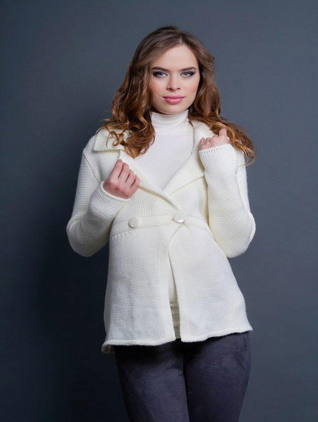 Вязаные пальто для беременных 64