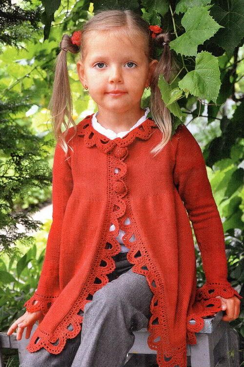 Вязаное пальто для девочки (79 фото): детское пальто для ...