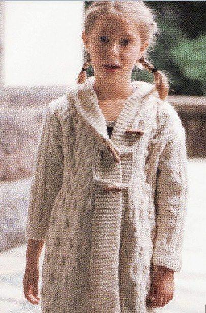 вязание пальто для девочки 8 лет