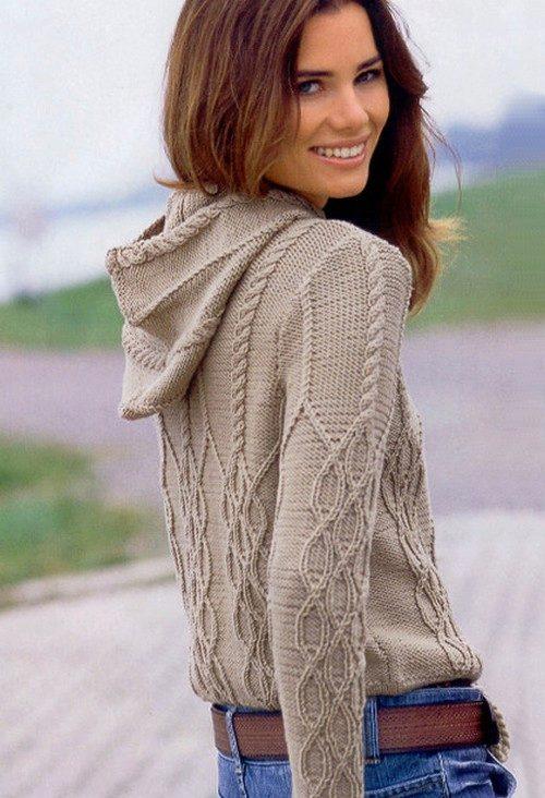 Вязаные пуловеры 2017