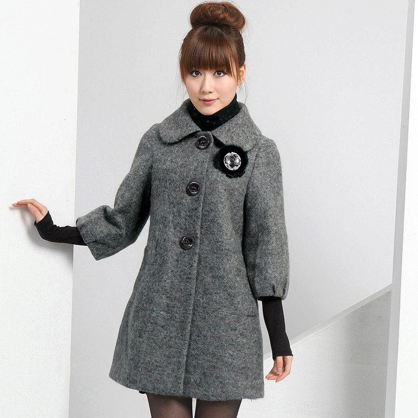 Пальто женское с драпа