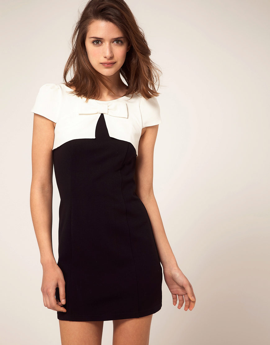 Фото платье белое с черным