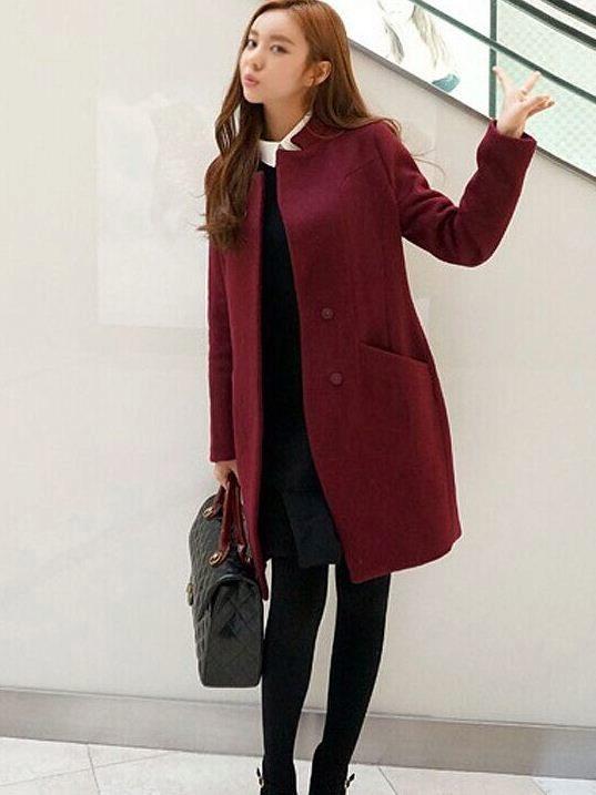 d1d5b850b0e Бордовое пальто (58 фото)  с чем носить