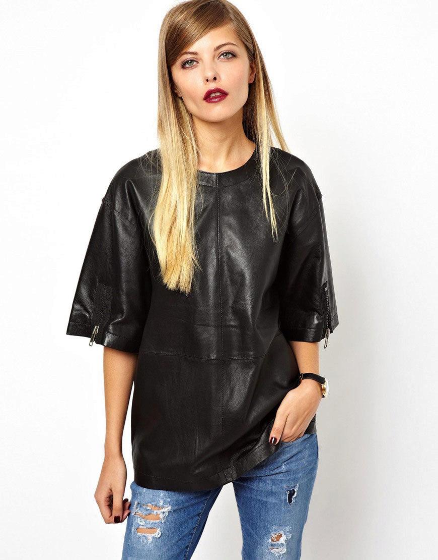 Блузка Из Кожи Купить