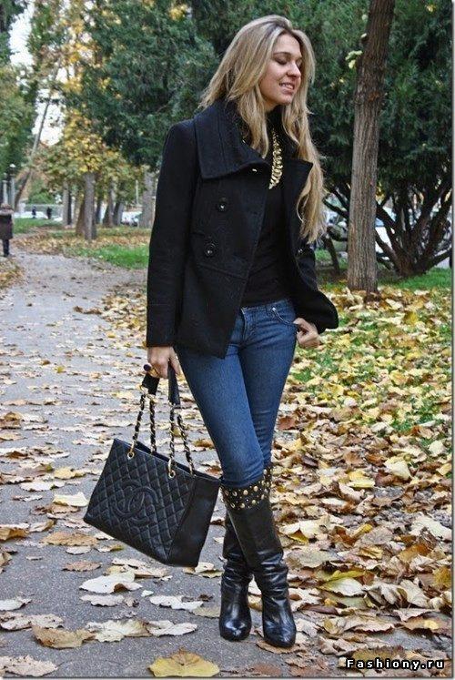 как носить короткое пальто новой