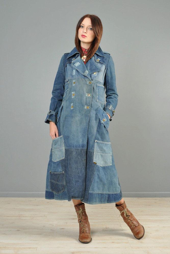 Сшить пальто из джинсовой ткани 6