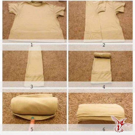 Как красиво свернуть футболку в подарок 75