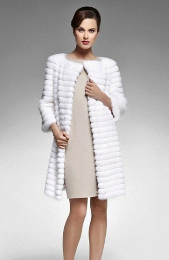 вязаного меха фото пальто из