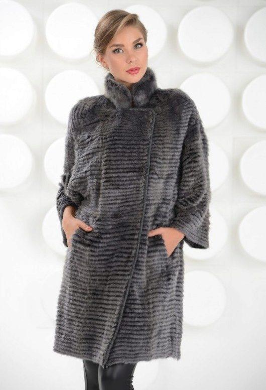пальто из вязаной норки 50 фото