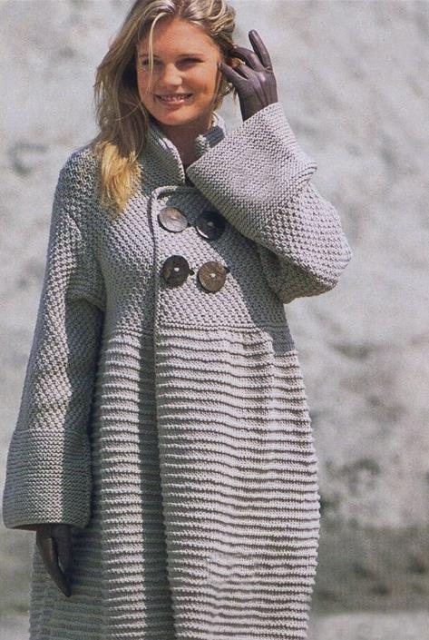 Модели вязанных пальто