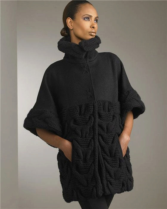 Пальто вязанные фото