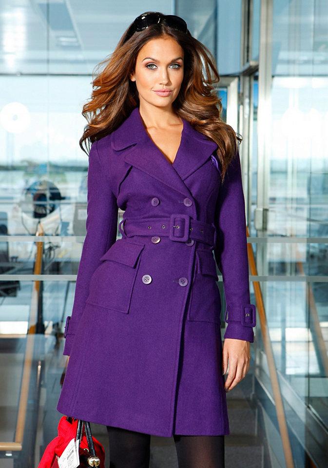 Фиолетовое женское пальто ugg lodge