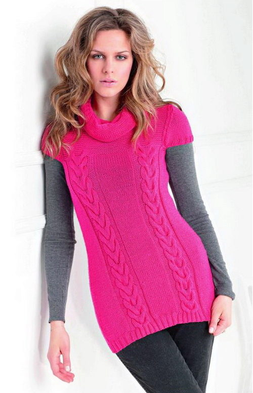 e24cde1f55e Розовые туники (54 фото)  с чем носить