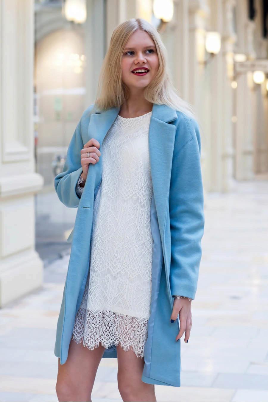 Комплект пальто и юбка