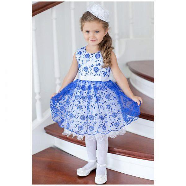 Нарядное платье на девочку 1 год своими руками